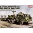 Carreta Transporte Tanques M - 26 Wagon Dragon - Academy