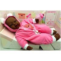 Boneca Bebê Recém Nascida Negra Pijama Tipo Reborn Divertoys