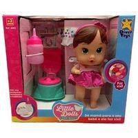 Mini Boneca Baby Dolls Hora Do Faz Xixi Morena - Divertoys