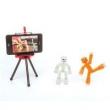 Playset E Mini Figuras Articuladas - Estúdio Stikbot - Estrela