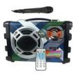 Caixa de som portátil USB MP3 com microfone