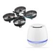 Kit Drone Quadcopter Wireless Preto + Caixa de Som Bluetooth