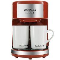 Cafeteira Duo Coffee 2 Xícaras Vermelha Britânia