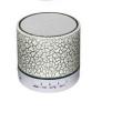 Caixa De Som Bluetooth Com Iluminação SD USB A12BT Branco