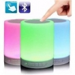 Caixa De Som Bluetooth Led Luminaria Abajur Touch Mp3 Aux