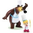 Masha e o Urso - Pack com 2 Figuras - Chef de Cozinha