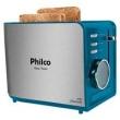 Torradeira Philco Easy Toast VD - Aço Escovado / Verde 220V