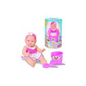 Boneca Baby Praia c / Balde e Acessórios