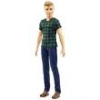 Boneco Ken Fashionista - Blusa Xadrez Verde e Preta - Dwk44 - Mattel