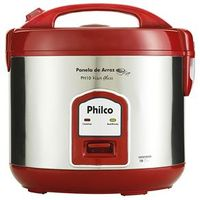Panela Elétrica de Arroz Philco PH10 Visor Glass Vermelho 220V