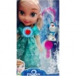 Boneca Frozen Disney Princesa Elsa Sonoro + Mini Olaf