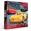 Conjunto com 3 Jogos - Quebra - Cabeça - Dominó e Jogo da Memória - Disney - Cars 3 - Toyster