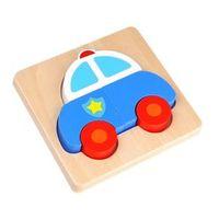 Quebra Cabeça de Madeira - Carro de Polícia - Tooky Toy