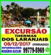 EXCURSÃO THERMAS DOS LARANJAIS-FERIADO 08 DE DEZEMBRO.