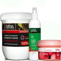 Kit Creme Pimenta negra Esfoliante Forte e Fluido Termo