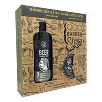 Kit QOD Barber Shop Beer Shampoo 3 em 1 240ml + Cera Walk 70g