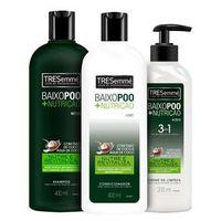 Kit Tresemmé Baixo Poo + Nutrição com Shampoo, Condicionador e Co Wash