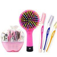 Utilidades feminina ? ? ? Kit para unha + sobrancelha + escova pentear cabelos