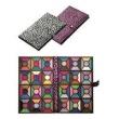 Paleta Estilo Carteira com 120 Sombras - 3D e Glitter - Capa Rosa com Preto