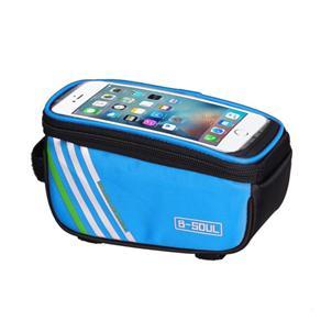 Bolsa Para Quadro De Bicicleta Porta Celular azul claro