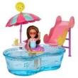 Playset e Mini Boneca Barbie - Chelsea com Piscina e Escorredor - Mattel