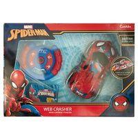 Veículo de Controle Remoto e Figura - Disney - Marvel - Spider - Man - Web Crasher - Candide