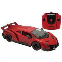 Carro de Controle Remoto Candide Garagem SA Moonlight com 7 Funções - Vermelho