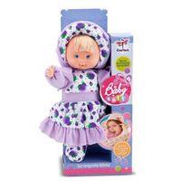 Boneca Baby Soft Lilás 40 cm 4003 - Cortex