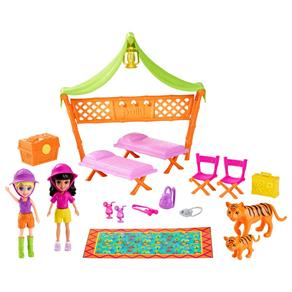 Conjunto Polly Pocket Mattel Safari Festa do Pijama