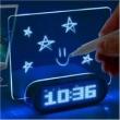 Relógio Despertador - HUB USB Painel Neon