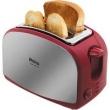 Torradeira Philco French Toast Inox Vermelha / Prata 110V