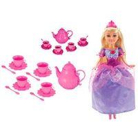 Boneca Articulada e Acessórios - Funville Sparkle Girlz - Conjunto de Chá e Fada Princesa - DTC