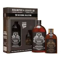 Kit QOD Barber Shop Old School Whiskey Shampoo 290ml + Leave - In 145ml