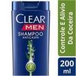 Shampoo Anticaspa Clear Men Controle da Coceira
