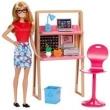 Boneca Barbie Articulada - Barbie com Móveis e Acessórios - Barbie no Escritório - Mattel