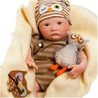 Boneca Bebê com Acessórios - Reborn - Pelúcia Hoot Hoot - Shiny Toys