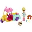 Boneca e Veículo - Polly Pocket - Polly e Carrinho dos Bichos - Mattel