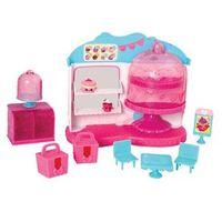 Kit Playsets e Acessórios - Shopkins - Geladeira Metálica e Cupcake Queen Café - DTC