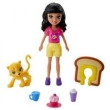 Mini Boneca e Acessórios - Polly Pocket - Café dos Bichinhos - Crissy - Mattel
