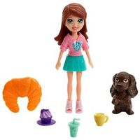 Mini Boneca e Acessórios - Polly Pocket - Café dos Bichinhos - Lila - Mattel