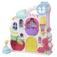 Playset com Figuras - Princesas Disney - Little Kingdom - Mini Castelo da Cinderela - Hasbro