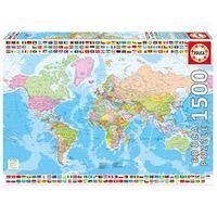 Puzzle 1500 Peças Mapa Mundial Político