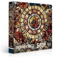 Quebra - Cabeça - 500 Peças - Arte Sacra - Vitral - Toyster