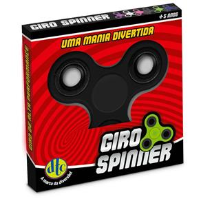 Hand Spinner Anti Stress Certificado - Fidget Giro Spinner - Preto - DTC