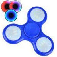 Hand Spinner Com Led Fidget Azul