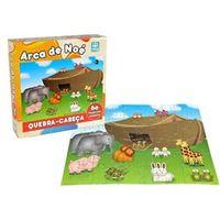 Quebra Cabeça Arca de Noé - 60 Peças em Madeira - Nig 42501