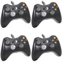 Controle Para Xbox 360 e PC Com Fio - Cor Preto - Joystick - Kit 2 Unidades