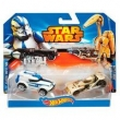 Hot Wheels Star Wars Clone Trooper Vs Battle Droid - Mattel