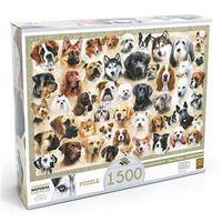 Quebra - Cabeça - 1500 Peças - Cães e Raças - Grow