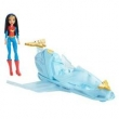 Conjunto Boneca Articulada e Veículo - DC Super Hero Girls - Mulher Maravilha com Jato - Mattel